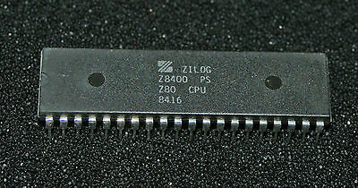 Zilog Z80 Cpu Z8400Ps Date Code Typically 1984 Dual In Line Package 40 Pin