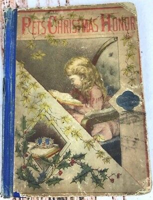 Antique Victorian Pets Christmas Honor Childrens Book Tracy Towne USA Vtg 1878