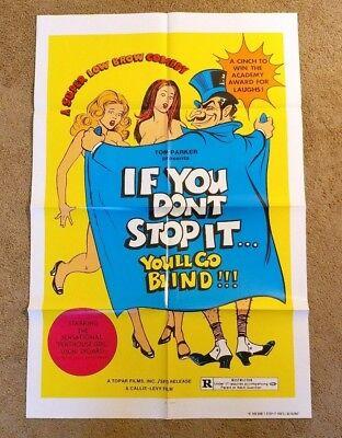 If You Don't Stop It You'll Go Blind! (1975) original movie poster sexploitation