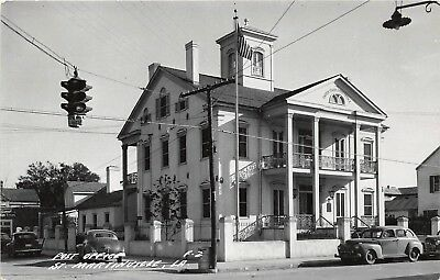 D93/ St Martinville Louisiana La Real Photo RPPC Postcard c50s Post Office
