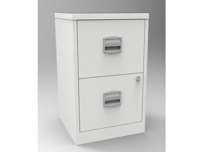 2 Drawer Bisley Steel Filing Cabinet Oyster White / A4 /  New - Collection -Sale
