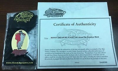Treasure Planet Disney Auctions Mr. Arrow Black Prototype With COA NIP Pin 46325