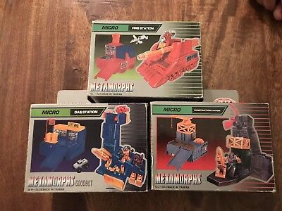Lotto Transformers Metamorphs - Fire Station - Gas Station- Constrution Station