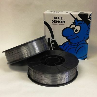 E71T-11 .035 x 10lb 2 PK MIG Gasless Flux Core Welding Wire Spools Blue Demon