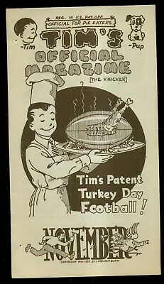 """1935 """"Tim's Store For Boys"""" Official Magazine - Groff & Wolf Co. Lancaster,PA"""