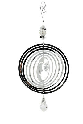 Silver Colour Metal Astral Wind Spinner Mobile- Wind Garden Home Decor Ornament