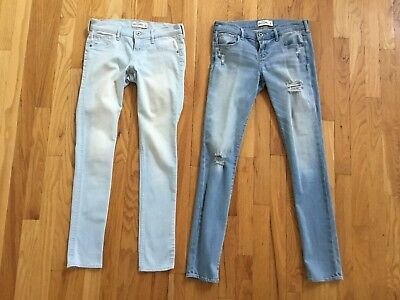 Girl's Abercrombie & Fitch Stretch Denim Jeans/Jeggings Lot Size 16