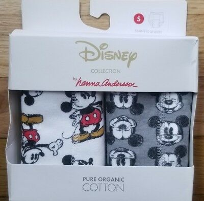 Nwt Hanna Andersson Organic Training Unders Disney Mickey Mouse S 100 110 4 5