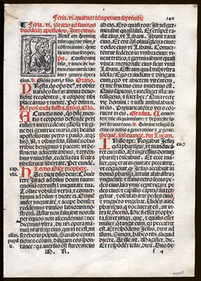 Ember Days of September Scarce Roman Missal Leaf Psalm 104 Gospel of John 7