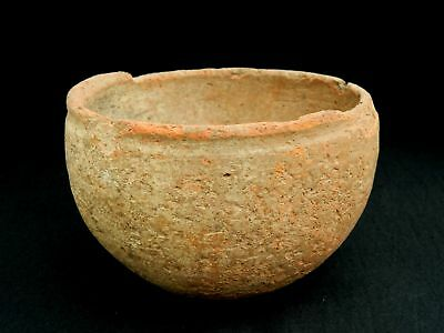 ANCIENT Terracotta POT - 150 mm diameter x 95 mm height - Saharian NEOLITHIC