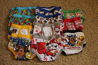 Paw Patrol Boys Underwear Lot, 11 pairs, New without tags, Size 2T-3T