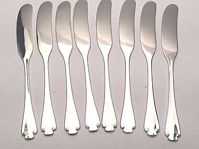 Flemish by Tiffany & Co. Sterling Silver group of 8 Flat Handle Butter Spreaders