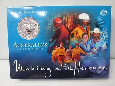 2003 Australia's 6 Coin Proof Set - Volunteer Making a Difference