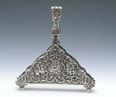Beautiful 800 Fine Antique Silver Letter Holder, Very Ornate