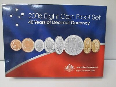 2006 Australia's 6 Coin Proof Set -- 40 Tears of Decimal Currency