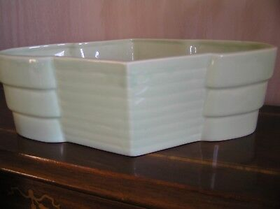 BESWICK TROUGH SHAPE No 747 PALE GREEN DECO STYLE VERY GOOD CONDITION