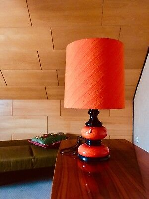 Lampe, Tischlampe, 70er, Oryginal Design, Orange