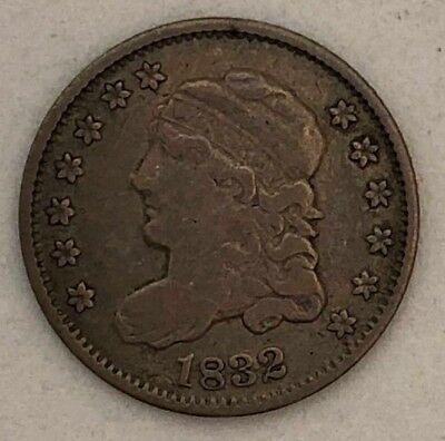 1832 Capped Bust Silver Half Dime in VF  * US Coin * MA3