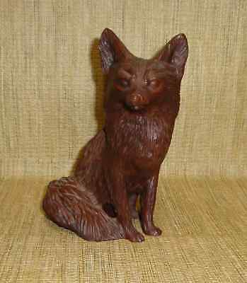 Carved Wood Look? Brown Fox Figure