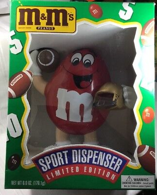 1995 M&M's Peanut Limited Edition Sports Red Football Player Candy Dispenser