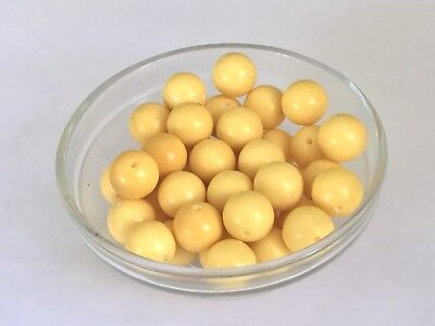 40 Bakelite 14mm Cream-Colored Loose Beads With Holes