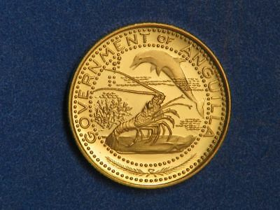 ANGUILLA 1969 $10 Sea Life GOLD Choice Proof - Mtg=1615