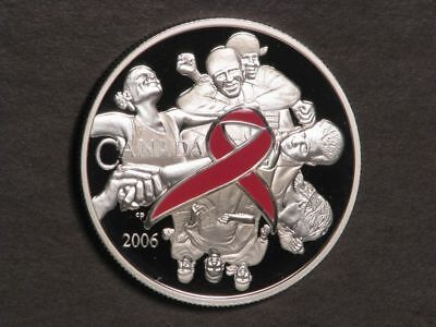 CANADA 2006 $5 Dollars Female Figures 1 Oz. Silver Colorized Choice Proof