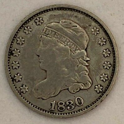 1830 Capped Bust Silver Half Dime in Fine Details * US Coin *  MA2