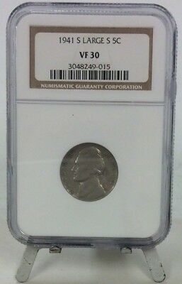 1941 S Large S 5 Cent VF 30