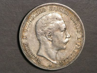 GERMANY-PRUSSIA 1903A 5 Mark Silver Crown VF-XF