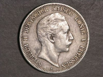 GERMANY-PRUSSIA 1904A 5 Mark Silver Crown VF