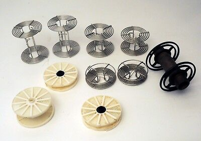 Lot of 9 - Developing Processing Reels - Stainless Steel & plastic Odd size