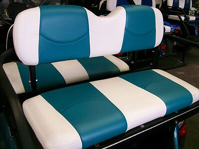 Club Car Precedent Golf Cart Deluxe Seat Covers Front And Rear White Teal