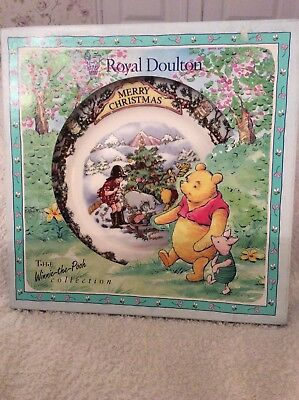 Royal Doulton - Winnie The Pooh Christmas Plate