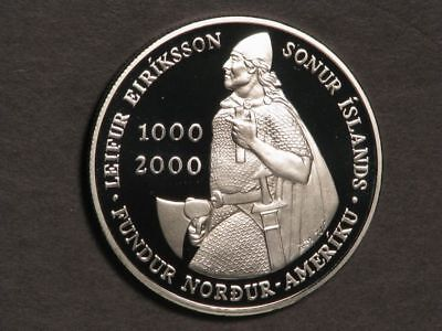 ICELAND 1974 1000 Kronur 1100 Years Settlement Silver Crown Choice Proof