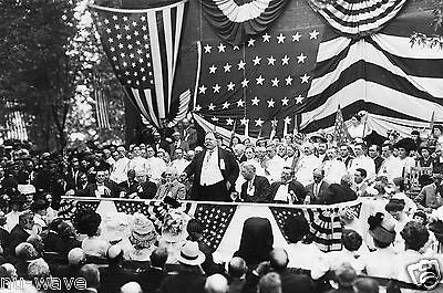 1911-Photo of President William H. Taft Speaking and Celebrates at Bull Run