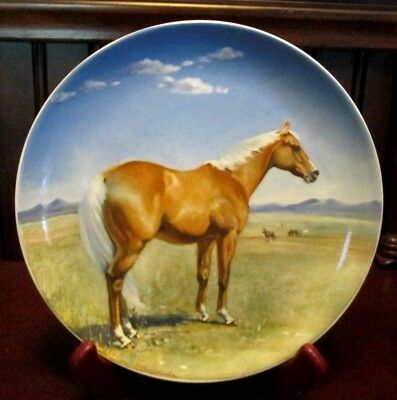 Vintage SPODE 1988 AMERICAN QUARTER-HORSE Collector Plate by Susie Whitcombe EUC