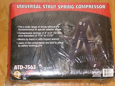 Universal Strut Spring Compressor Atd-7563 New In Package