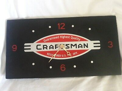 Craftsman Metal Logo Clock