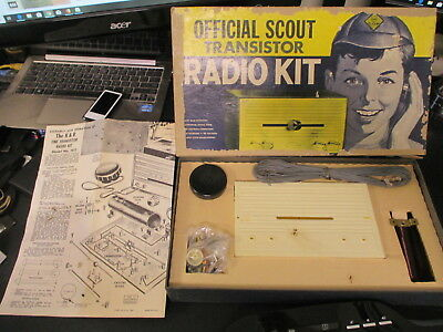 1964 Aurora K&B Official Scout One Transistor Radio Kit NO.1811 U.S.A.NEW in Box