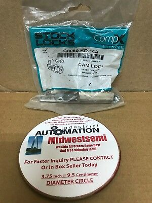 New C8060Kd14A Compx C8060-Kd-14A Disc Cam Lock Keyed Different Bright Nickel