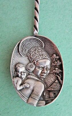 Sterling Silver CANDIDA SOUTH AFRICA Repousse Souvenir Spoon