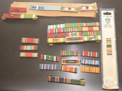 Collection of 33 Vintage Military Bars U.S.A. RIBBON MEDALS (Some with Stars)