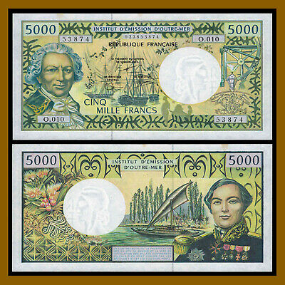 French Pacific Territories 5000 Francs, ND 1996 P-3f Unc