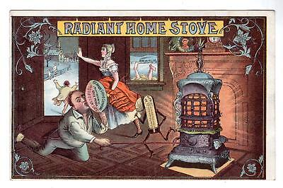 1894 Radiant Home Stove*germer Stove Co*erie Pa*base Burner*victorian Trade Card