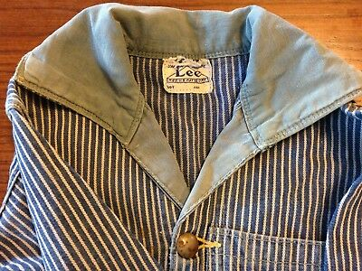Lee Union Made Childs Size 2 Pinstripe Engineer Coveralls