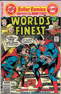 1977 DC Dollar Comic Book   WORLD'S FINEST  246 VF  High Grade ! VINTAGE