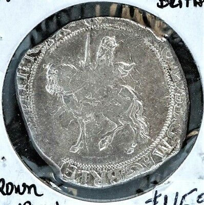 1625-49 Great Britain King Charles I Silver Half Crown VG+/ FINE