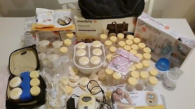 Medela Freestyle Hands Free Breast Pump With Charger & Extras NEW TUBING!