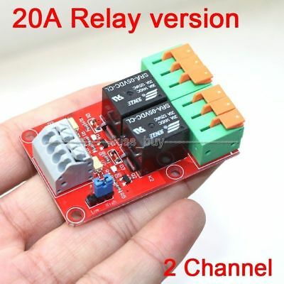 2 Channel 20A Relay Control Module for Arduino UNO MEGA2560 R3 Raspberry Pi